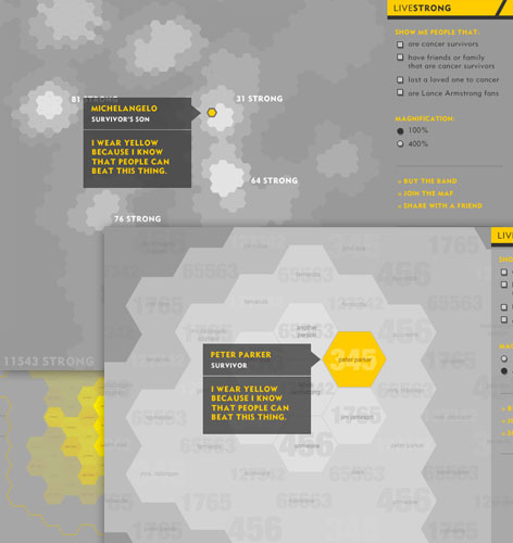 wearyellow.com: Community Visualization Concepts