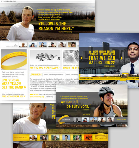 wearyellow.com: Site Design Concepts