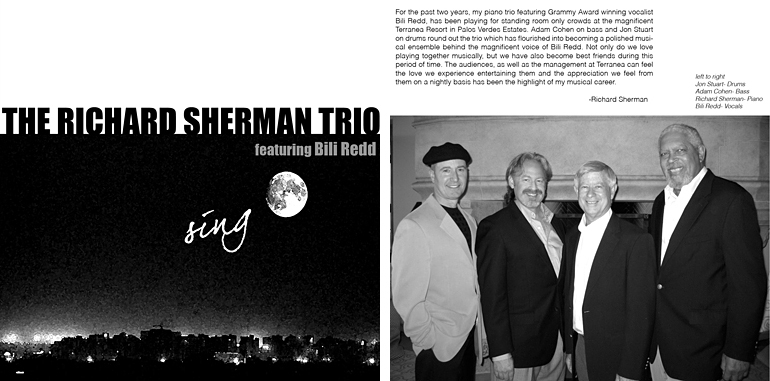 Cover of Sing CD from the Richard Sherman Trio