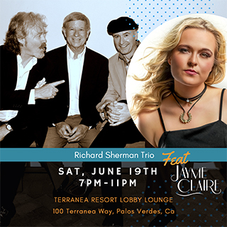 Richard Sherman Trio with Jayme Claire back at Terranea June 2021