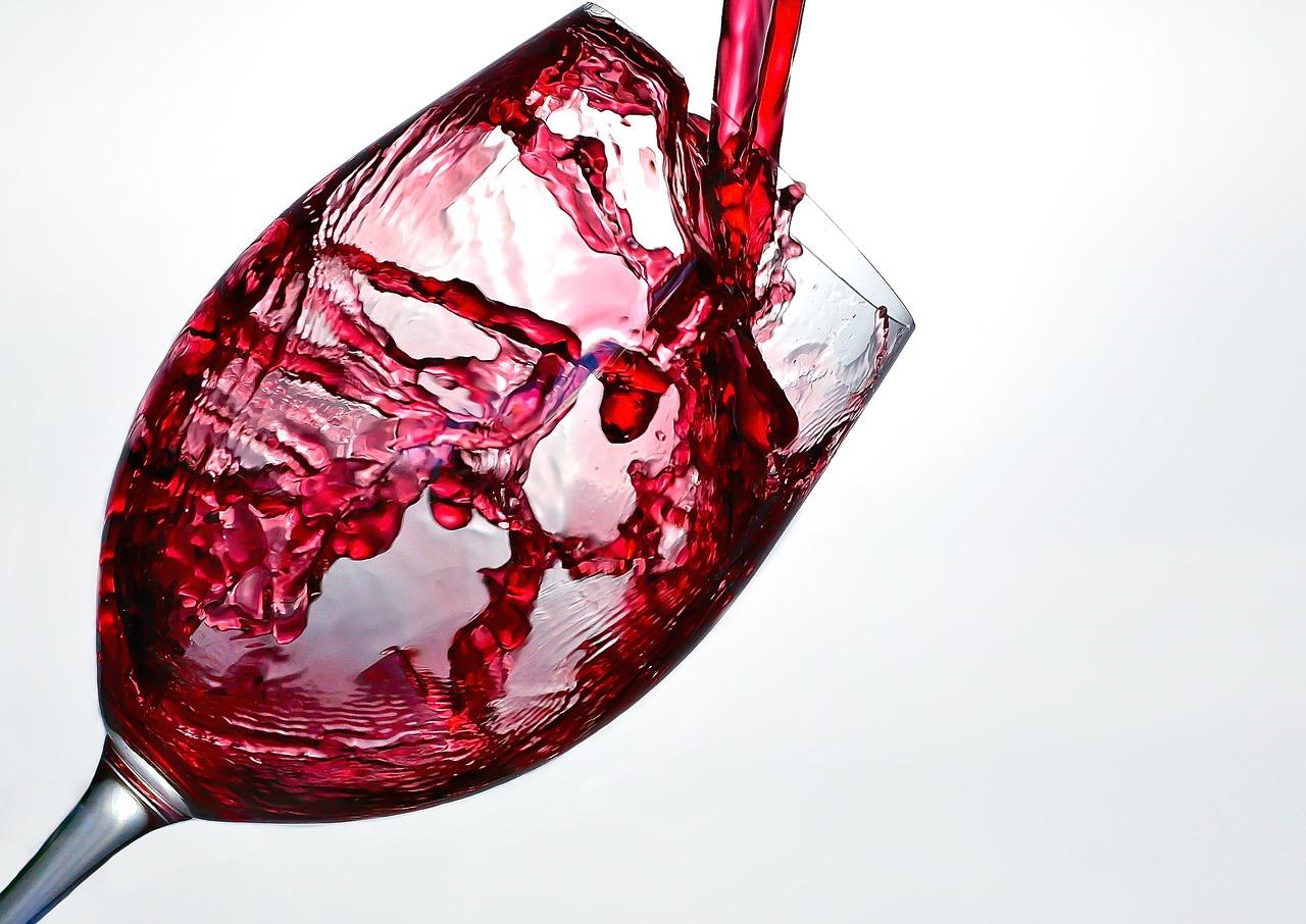 wine, splash, glass