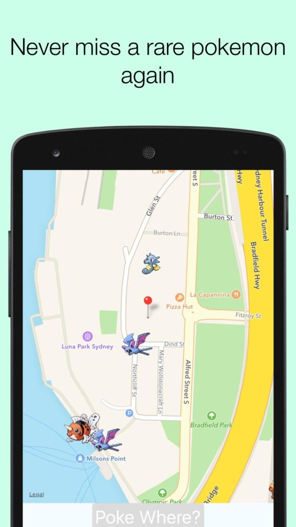 poke where android app
