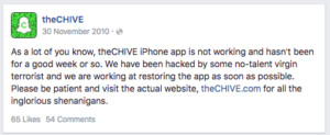 chive app not working iphone