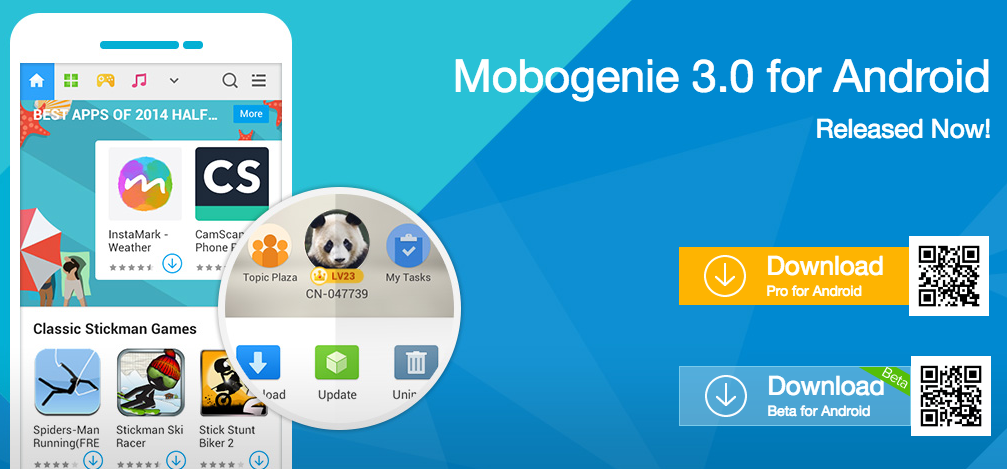 download moboginie app for android