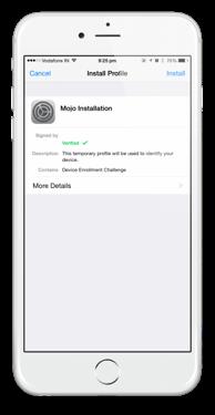 mojo installer ios step 1
