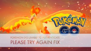 pokemon go unable to authenticate pleas etry again