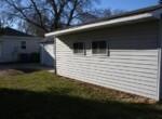 East side of garage