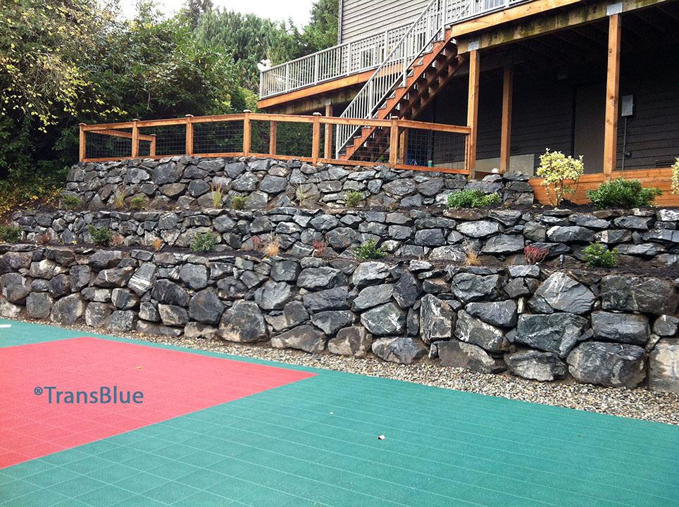 habermann retaining wall install -