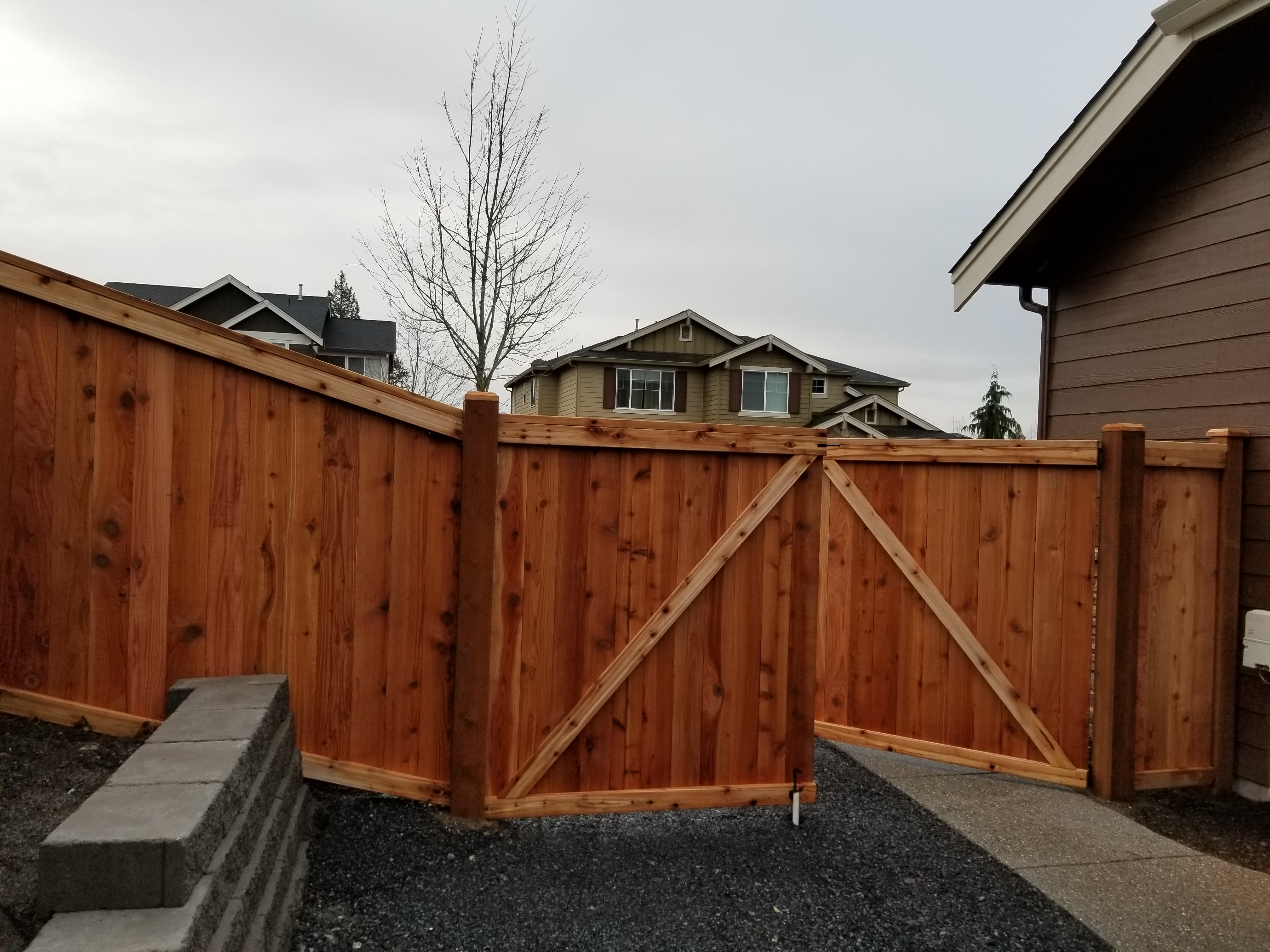 A wooden fence and gate.