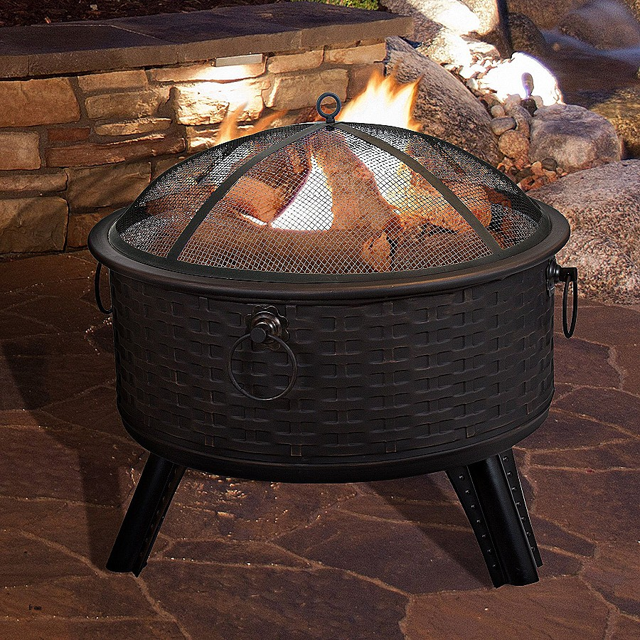 A photo of a portable fire pit.