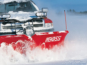A photo of a snowplow in action.