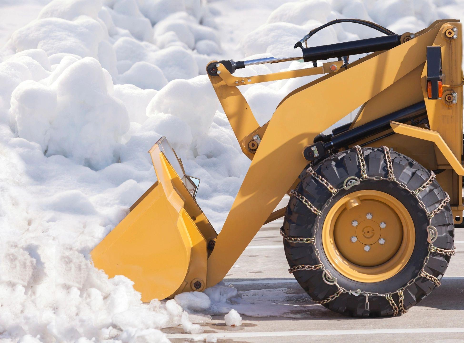 A machine removing snow.