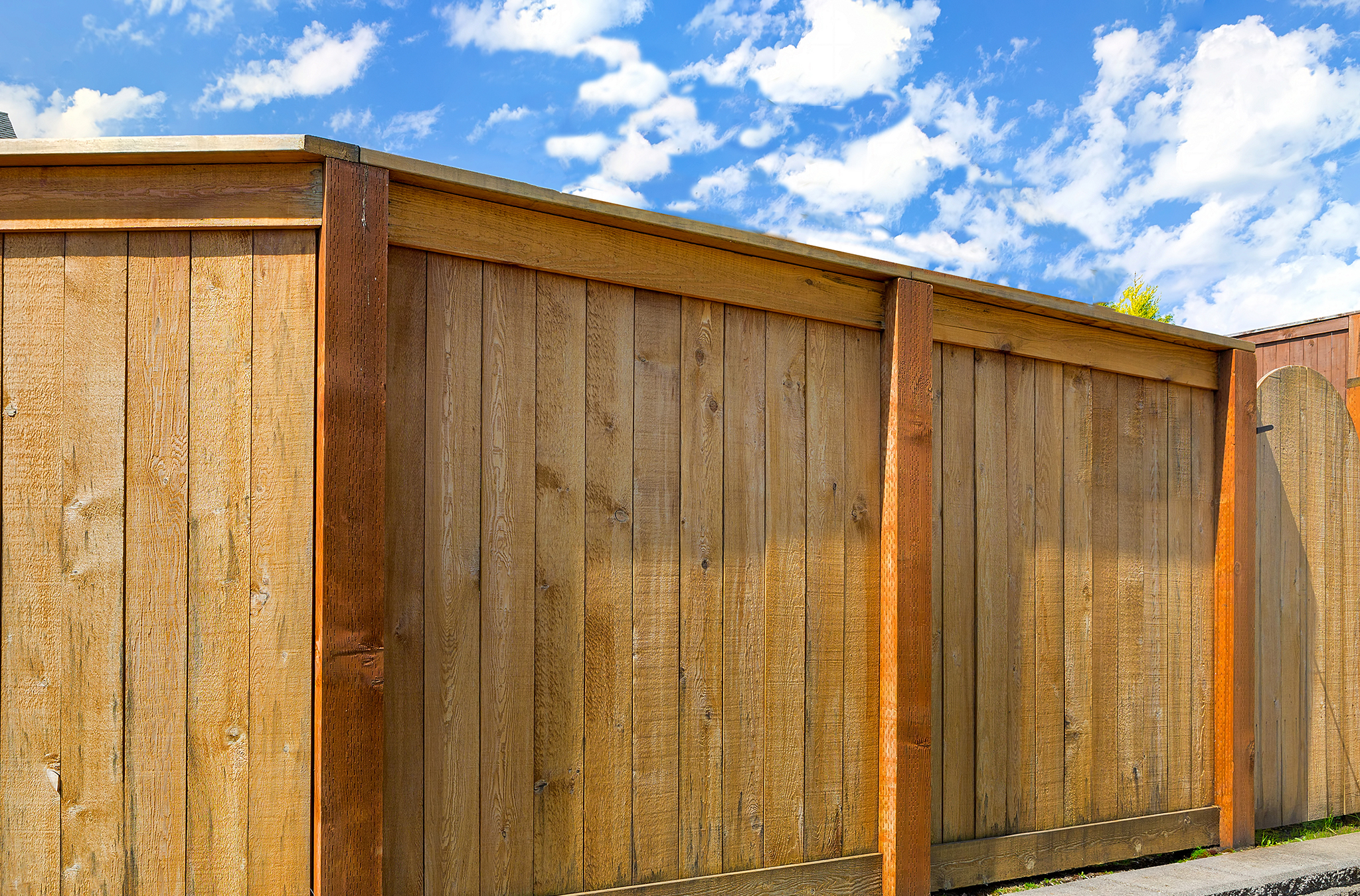 A new wooden fence.