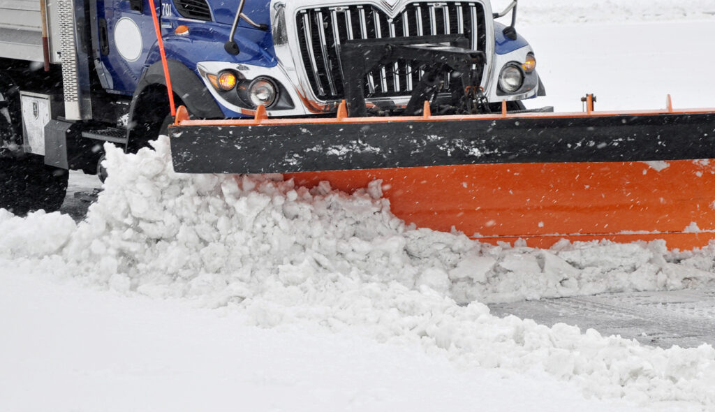 snow plow for commercial lots