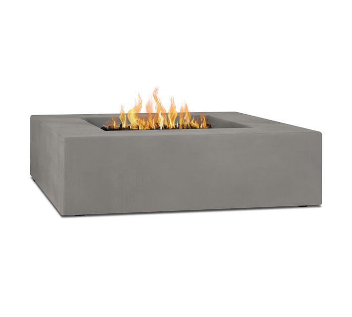 Concrete square fire pit