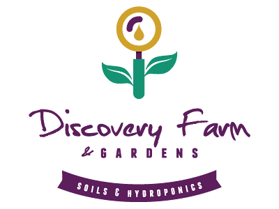 Urban Farming Institute's Discovery Farm and Gardens logo