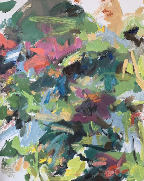 "oil on canvas, 20 x 16"""