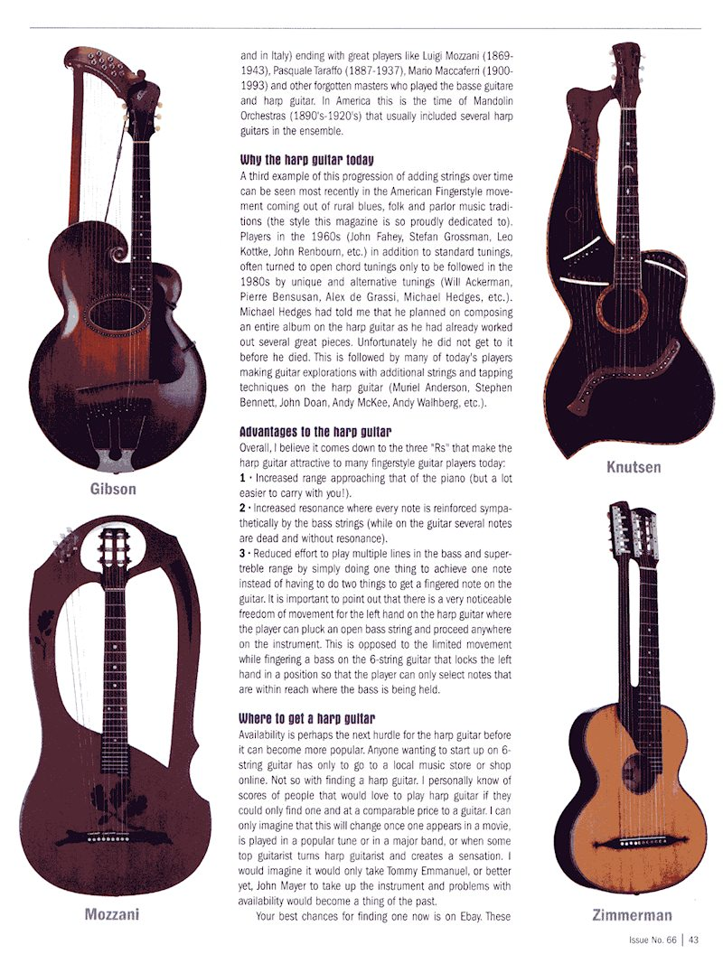 Fingerstyle Guitar Magazine - The Inevitable Harp Guitar - no.66 pg43
