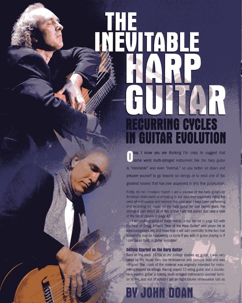 Fingerstyle Guitar Magazine - The Inevitable Harp Guitar - no.66 pg40
