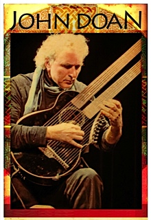 John Doan European Concert Tour Poster 2012 playing the Brunner travel harp guitar