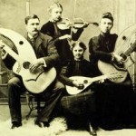 knutsen family portrait with harp guitars history