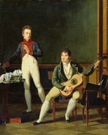 72.Musician and his Family, French oil painting (Bibliothèque Marmottan, Boulogne-Billancourt, Paris copy