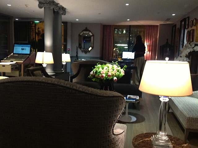 Hotel Favart Lobby in Paris.