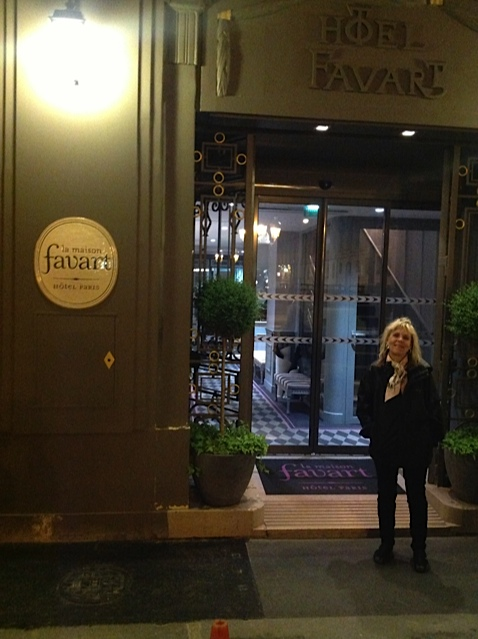 Deirdra Doan at the Hotel Favart in Paris, France.