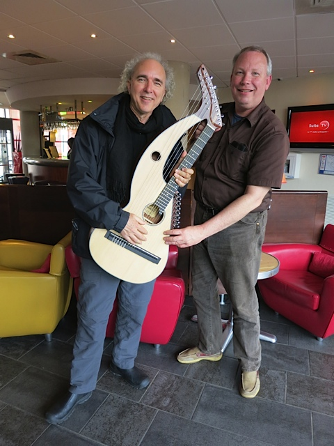 8.John Doan Jay Buckey with New Harp Guitar
