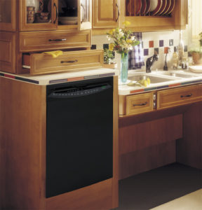 GE Adjustable Roll-Under Sink With Raised Dishwasher