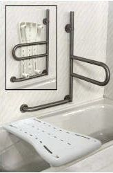 HealthCraft Dependa Bar Lower Grab Bar With Bath Board