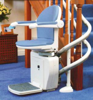 Curved Sterling 2000 Stair Lift by Handicare for Your Metro Atlanta Home