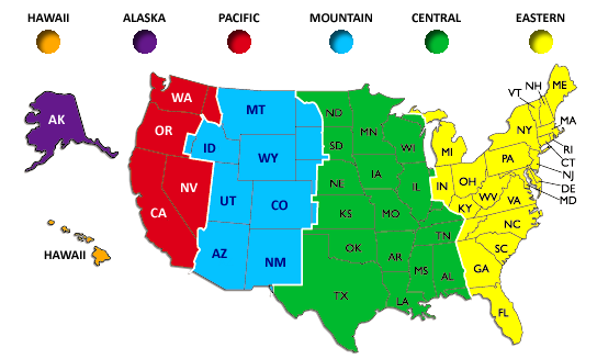 US Time Zones