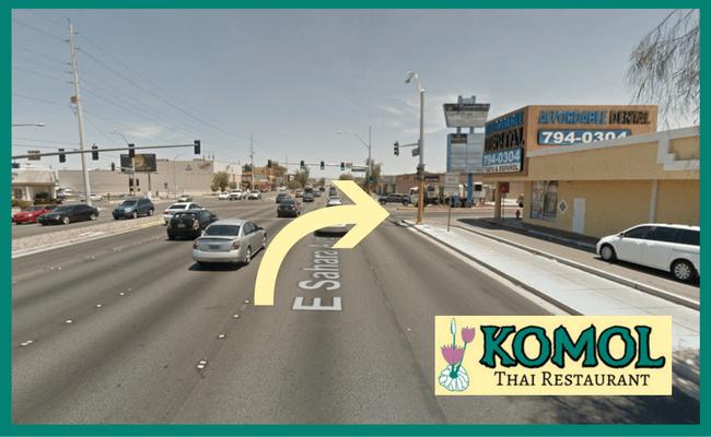 Finding Komol - Heading East on Sahara Avenue 650x400