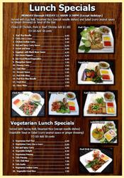 Komol Thai Restaurant - Lunch menu