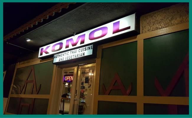 Front of Komol Thai Restaurant_In 70
