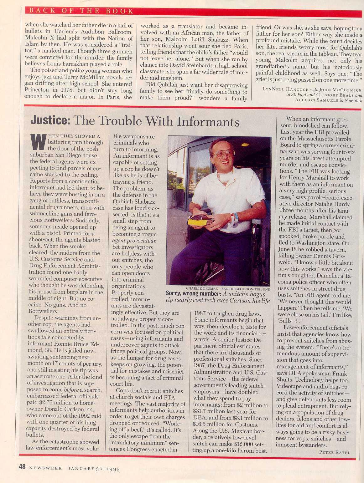 newsweek back of the book