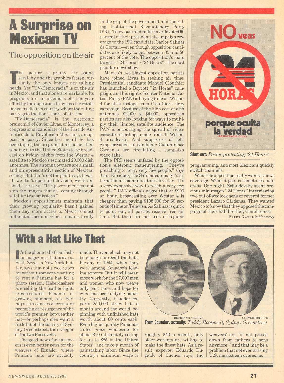 Peter Katel in Monterrey – NEWSWEEK Magazine (1988)