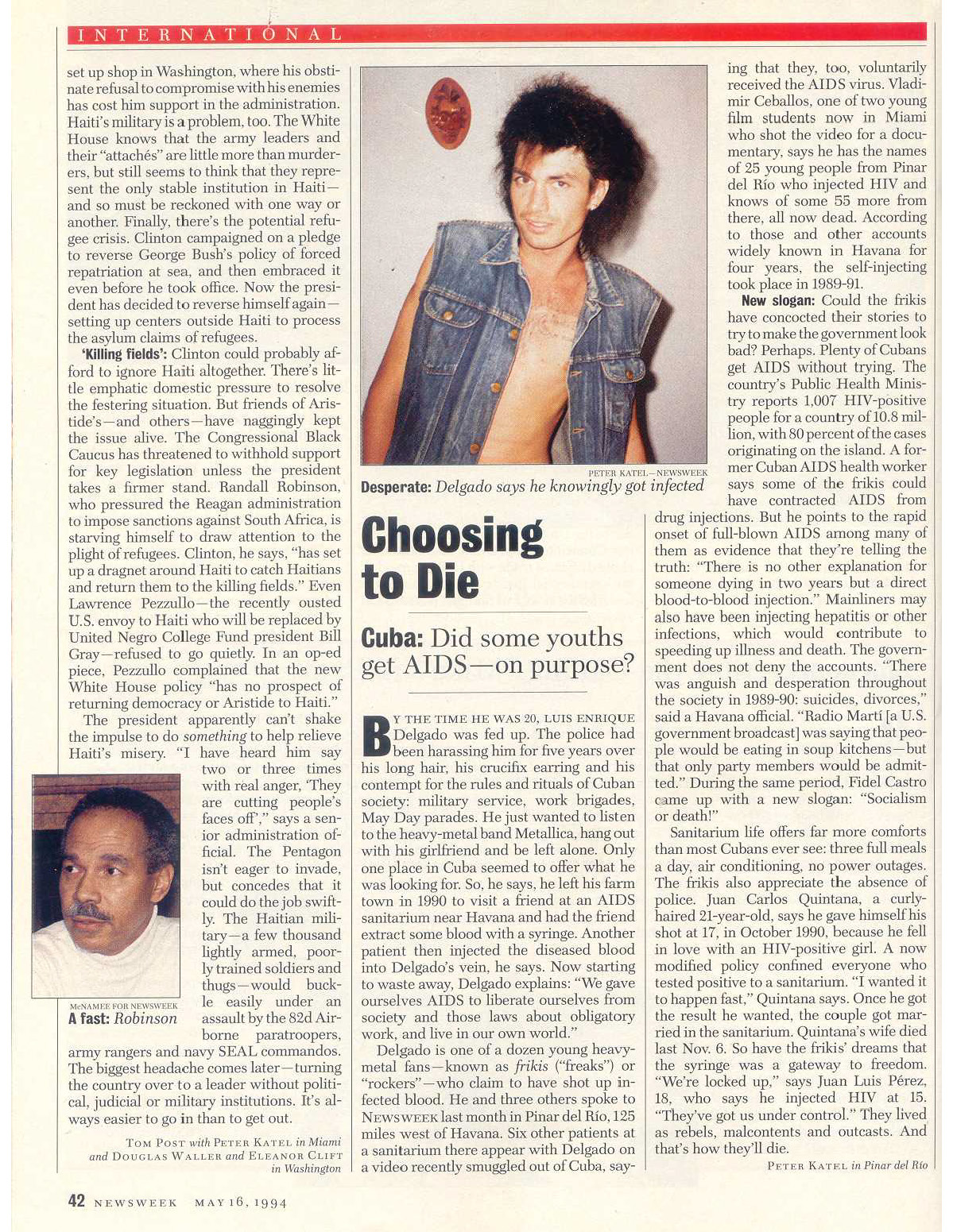 Peter Katel in Pinar Del Rio, Cuba – NEWSWEEK Magazine (1994)