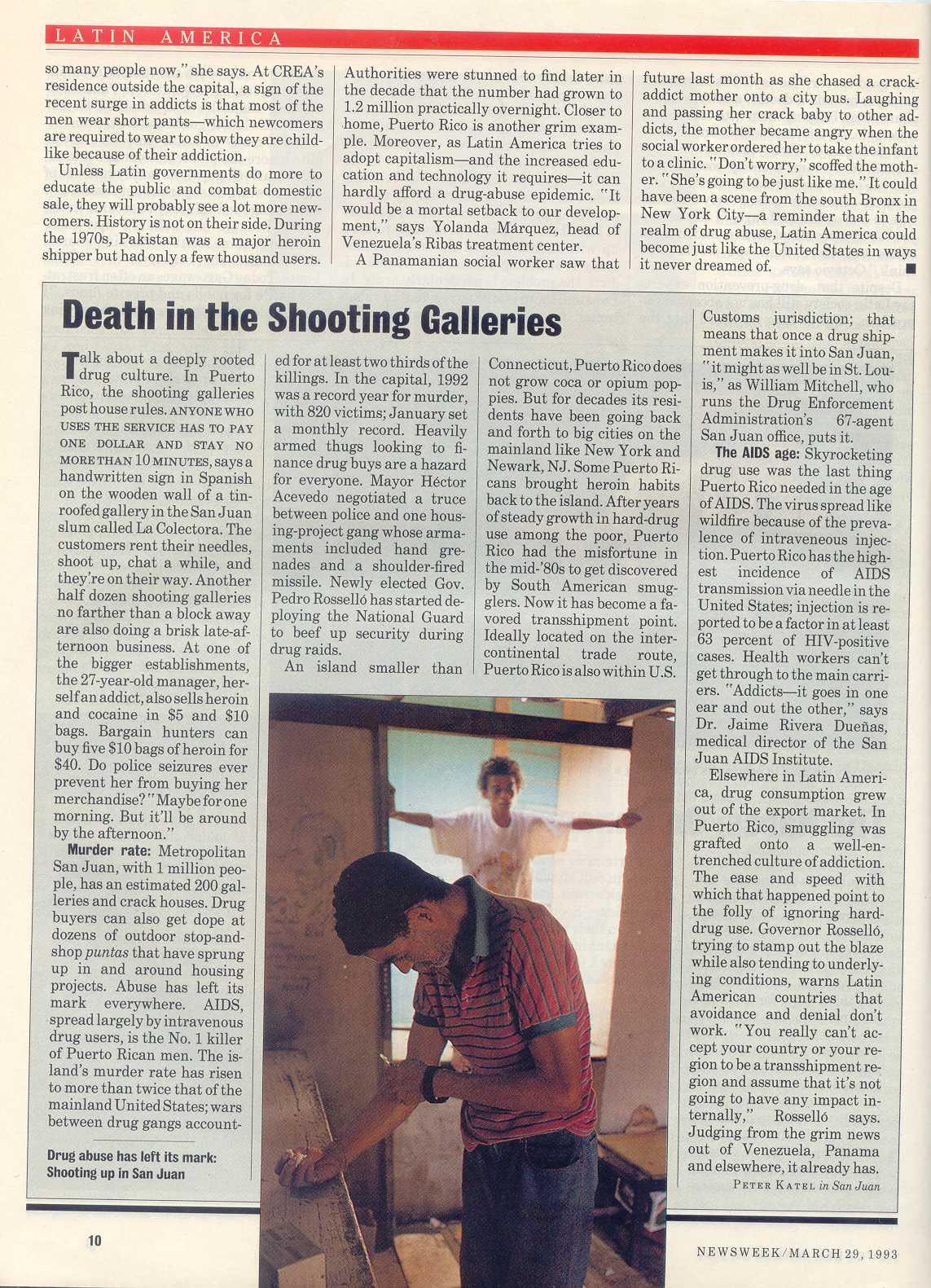 Peter Katel in San Juan, Puerto Rico – NEWSWEEK Magazine (1993)