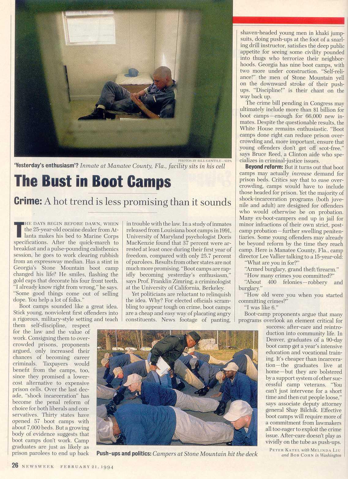 Peter Katel in Washington – NEWSWEEK Magazine (1994)