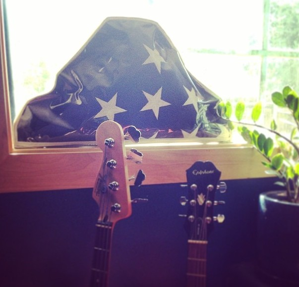 My Father's flag in the studio