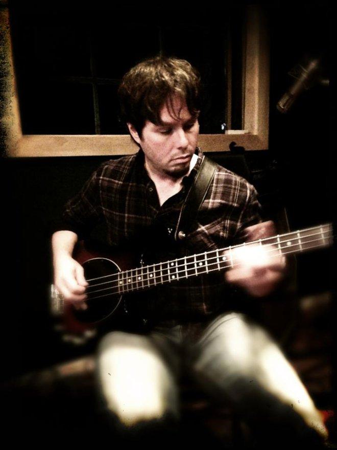 Sebastian recording bass