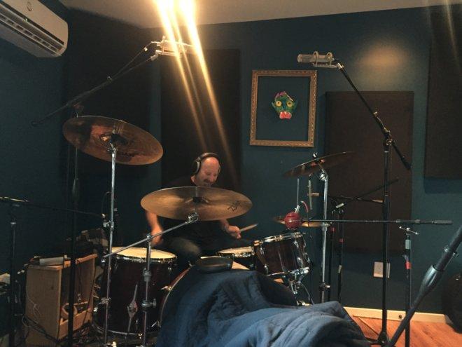 """Greg recording """"Bobcat"""""""