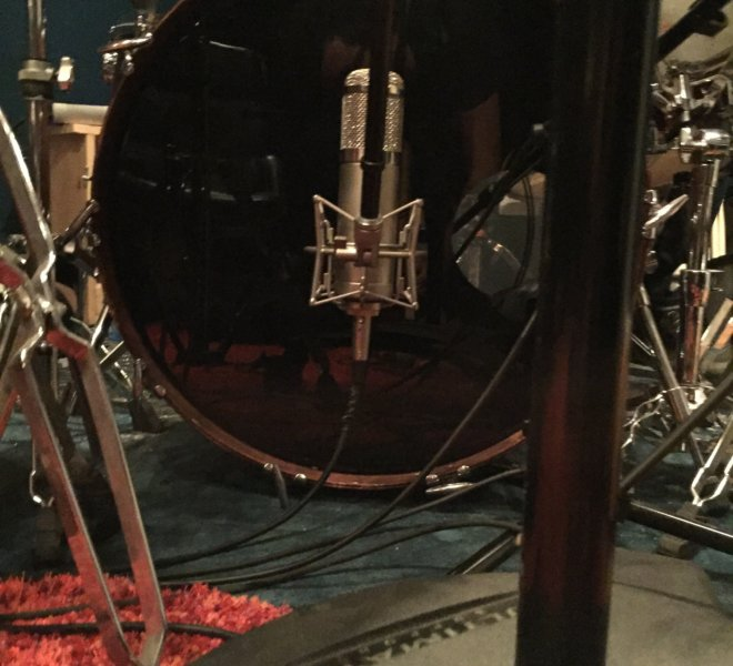 Kick drum micing before the tunnel goes down