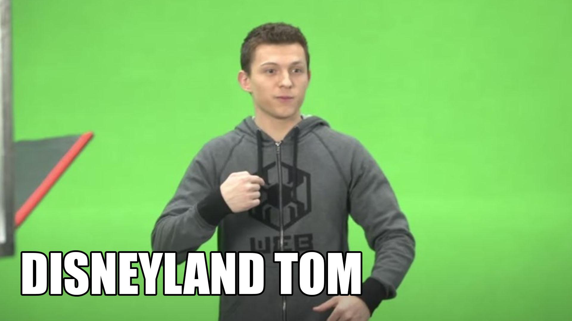 Tom Holland Shows New Spiderman Ride In Disneyland
