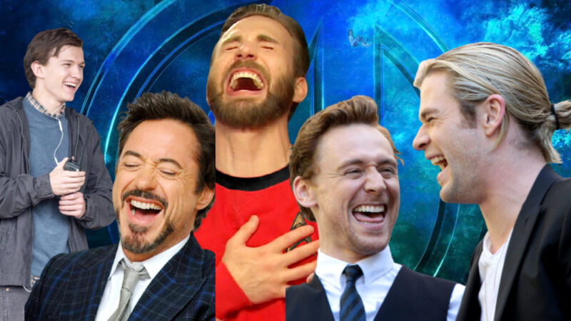 Avengers Cast Laughing