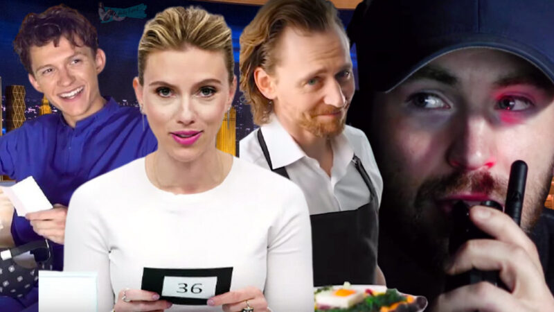 Avengers Cast Playing Games