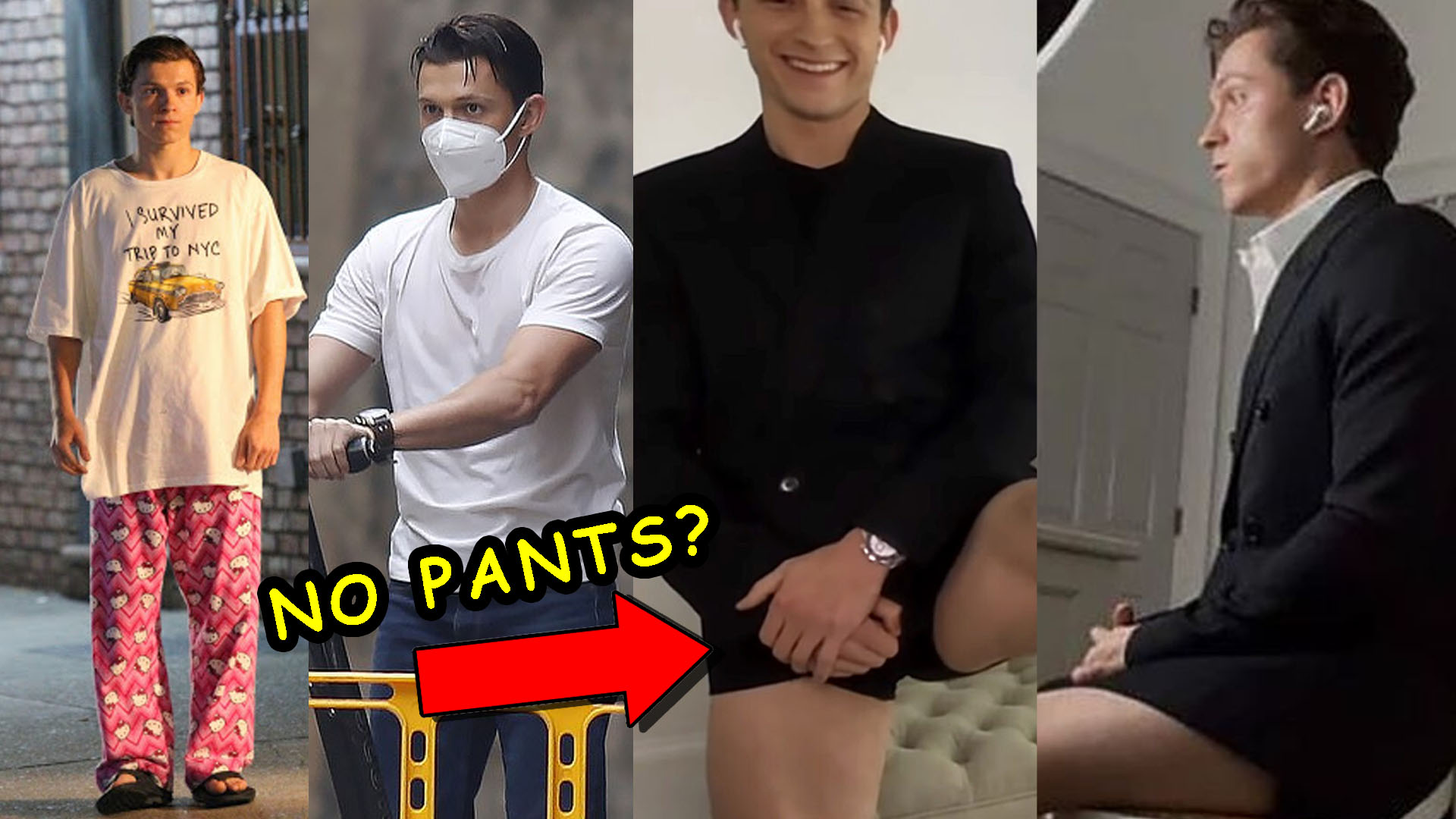 Tom Holland Skips Wearing Pants In An Interview
