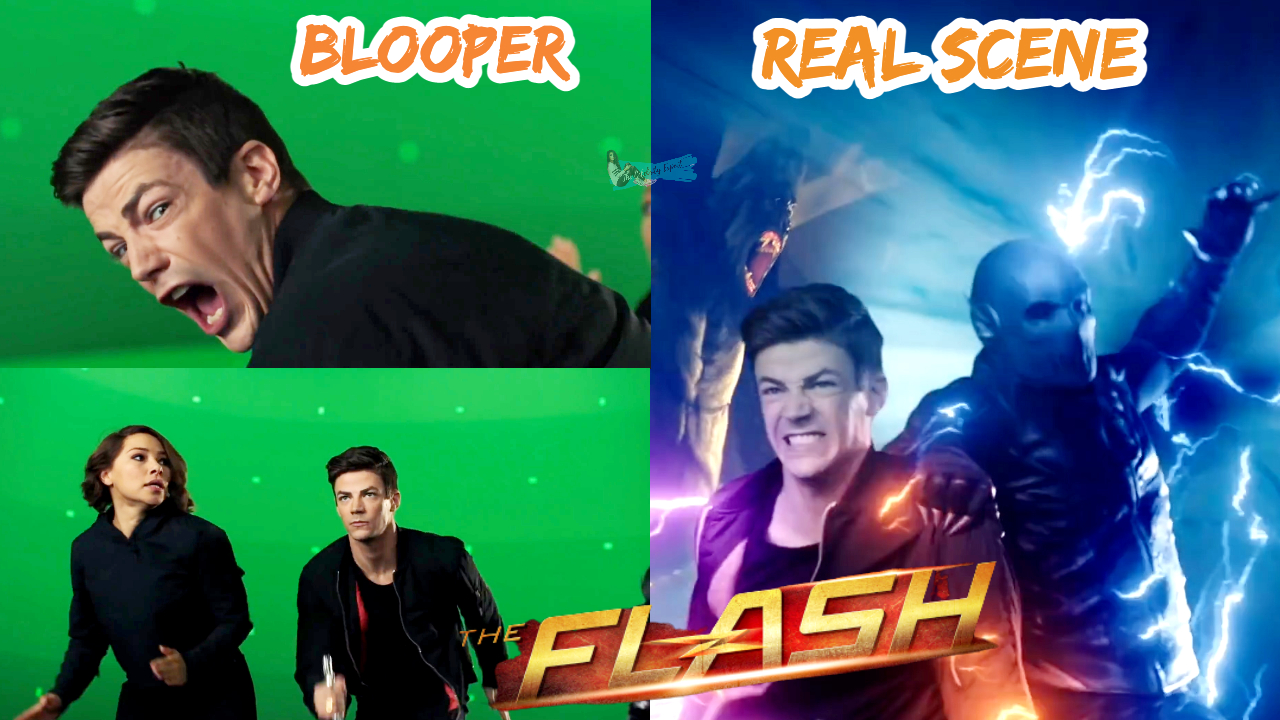 The Flash Bloopers Vs Real Scene